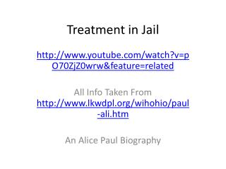 Treatment in Jail