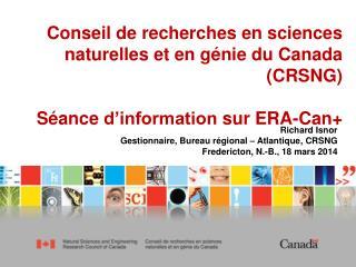 Conseil de recherches en sciences naturelles et en génie du Canada (CRSNG)