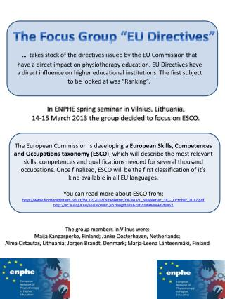 The European Commission is developing a  European Skills, Competences