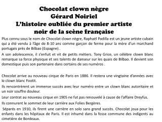 Chocolat clown negre