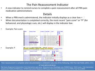 The Pain Reassessment Indicator