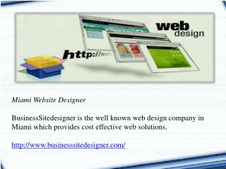 Miami Website Designer