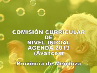 COMISIÓN CURRICULAR DE  NIVEL INICIAL AGENDA 2013 (Avances ) Provincia de Mendoza