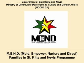 Government of Saint Kitts and Nevis Ministry of Community Development, Culture and Gender Affairs