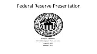 Federal Reserve Presentation