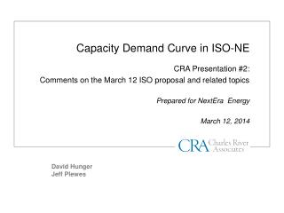 Capacity Demand Curve in ISO-NE