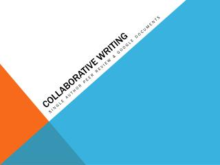 Collaborative Writing