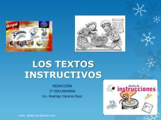 LOS TEXTOS INSTRUCTIVOS