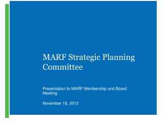 MARF Strategic Planning Committee