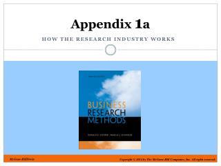 Appendix  1 a