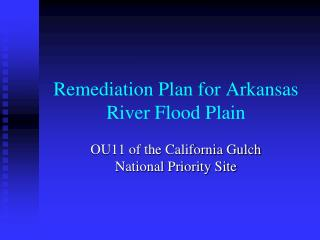 Remediation Plan  for Arkansas River Flood Plain