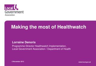 Making the most of Healthwatch