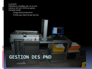Gestion des PND