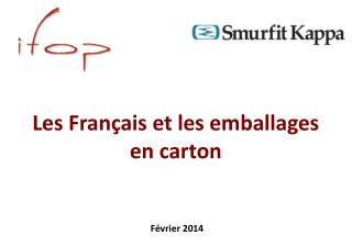 Les Français et les emballages  en carton