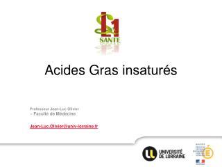 Acides Gras  insaturés