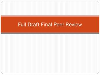 Full Draft Final Peer Review