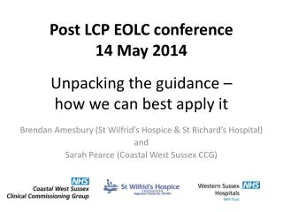 Unpacking the guidance –  how we can best apply it