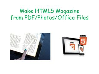 Create HTML5 Magazine from PDF