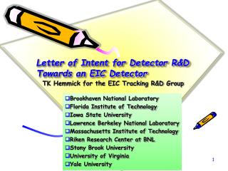 Letter of Intent for Detector R&D Towards an EIC Detector