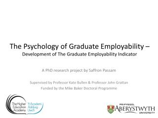 A PhD research project by Saffron  Passam