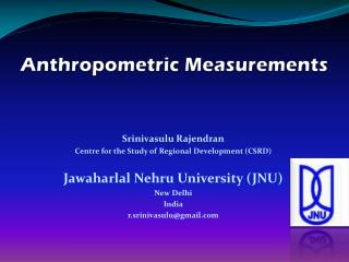 Anthropometric  Measurements