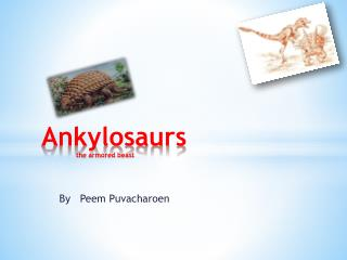 Ankylosaurs the armored beast