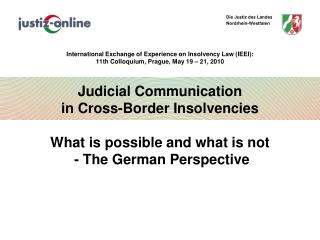 Judicial  Communication in Cross- Border Insolvencies Introduction