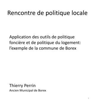Rencontre de politique locale