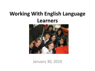 Working With English Language Learners