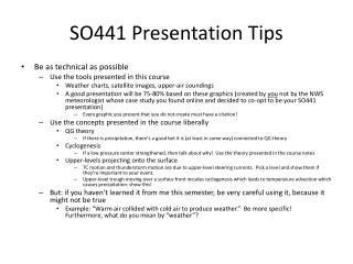 SO441 Presentation Tips