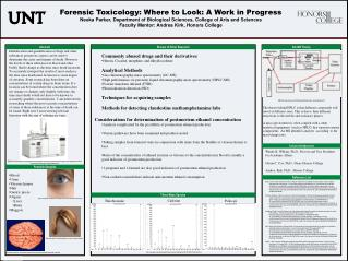 Forensic Toxicology: Where to Look: A Work in Progress