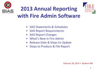 2013 Annual Reporting with Fire Admin Software