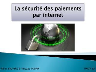 La sécurité des paiements par internet