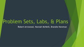 Problem Sets, Labs, & Plans