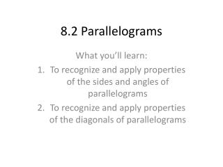 8.2 Parallelograms
