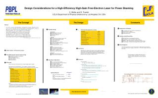 Design Considerations for a High-Efficiency High-Gain Free-Electron Laser for Power Beaming