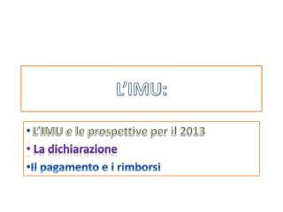 L'IMU: