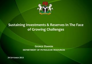 Sustaining Investments & Reserves In The Face of Growing Challenges