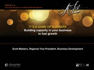 IT'S A GAME OF NUMBERS Building capacity in your business  to fuel growth
