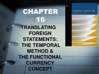 CHAPTER 16 TRANSLATING FOREIGN STATEMENTS: