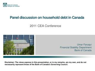 Panel discussion on household debt in Canada