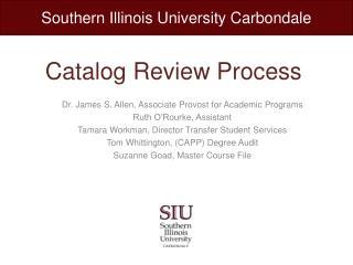 Catalog Review Process