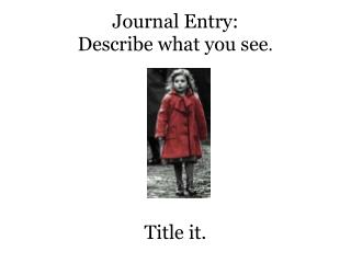 Journal Entry: Describe what you see .