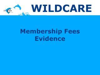 Membership Fees Evidence