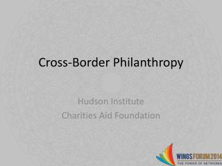 Cross-Border Philanthropy