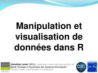 Manipulation et visualisation de données dans R