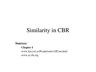 Similarity in CBR