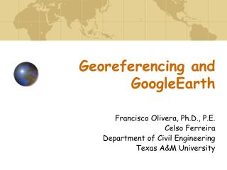Georeferencing  and  GoogleEarth