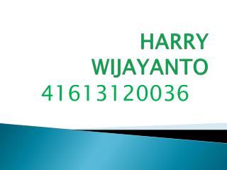 HARRY WIJAYANTO