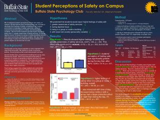 Student Perceptions of Safety on Campus